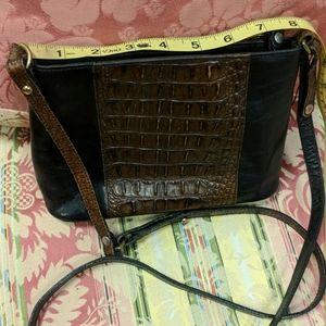 Vintage Brahmin Small Black & Brown Shoulder Bag